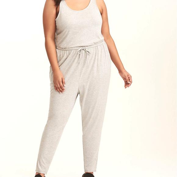 0824d5794afc 2x Torrid One Piece Jersey Gray Knit Jumpsuit